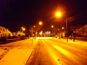 Glasnevin Avenue in the Snow