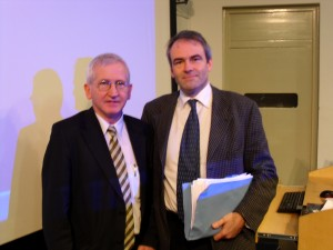 With Professor Tim Lynch of the Dublin Institute of Neurological Sciences